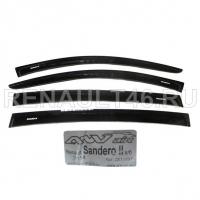 Дефлекторы SANDERO II 2014 на скотче ANVair 4шт аналог